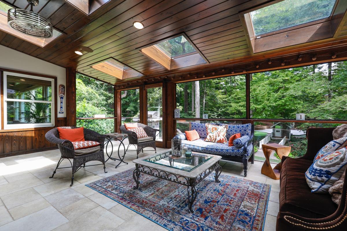 Year round porch addition
