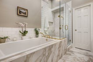 Master Tub & Recessed Shower